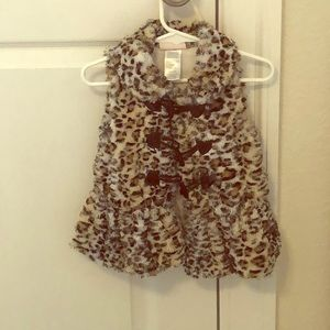 Toddler Animal Print Vest with toggle buttons